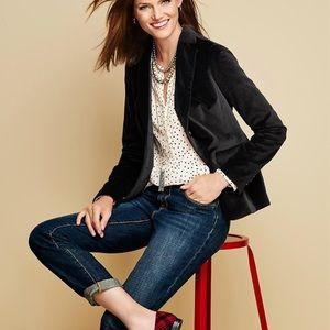 NWT Talbots Black Velvet Blazer Size 6P